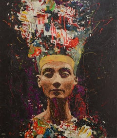 "Hossam Dirar ""Nefertiti 2"" Oil painting"