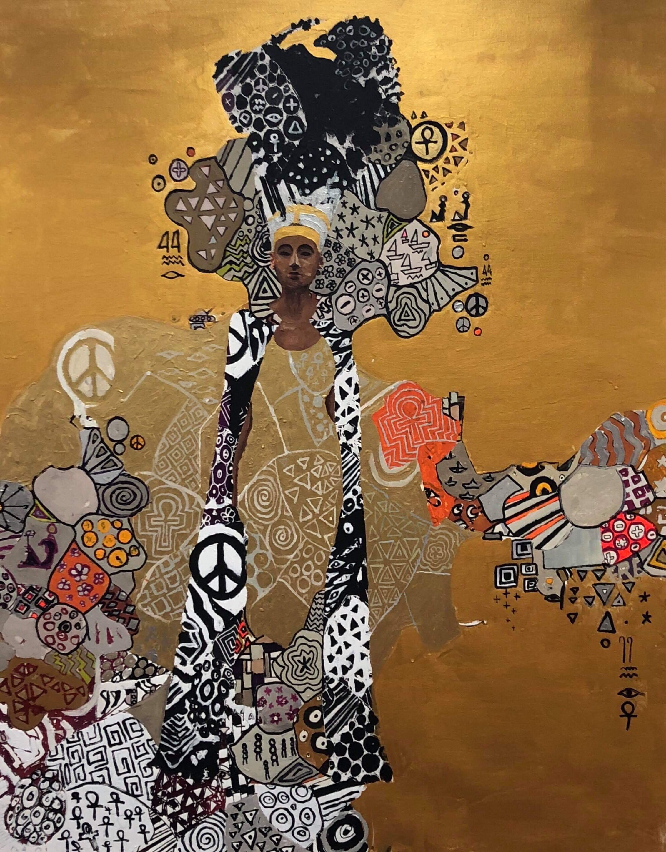 "Hossam Dirar ""The Golden Queen"" painting"