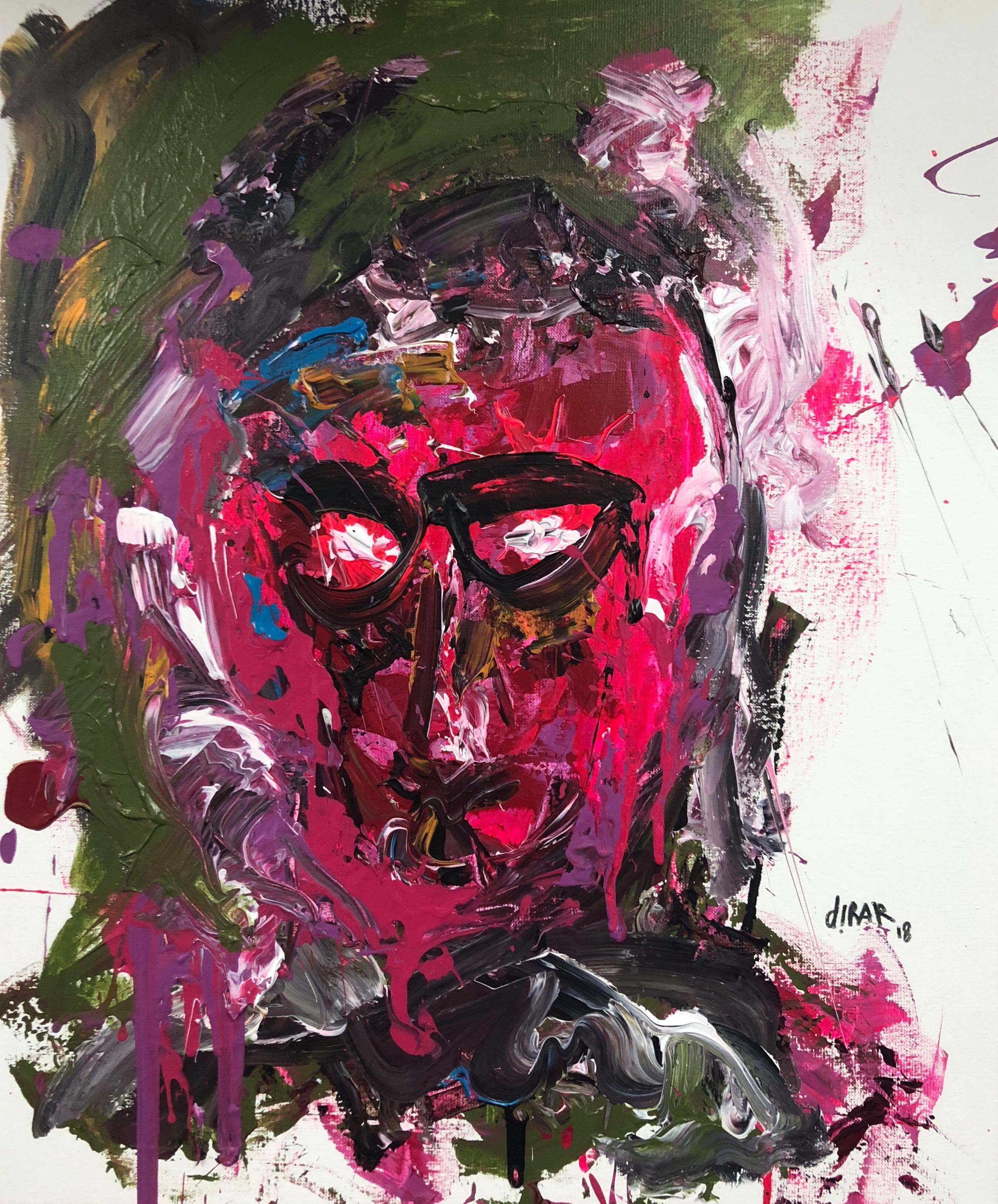 """""""Conscious mind"""" painting by Hossam Dirar"""