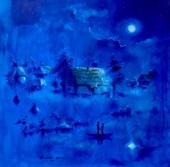 """Dmitriy Krestniy """"Ukrainian night"""" oil on canvas"""