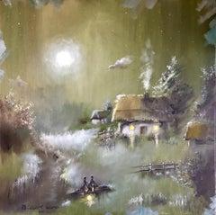 """Dmitriy Krestniy """"The Date"""" oil on canvas"""