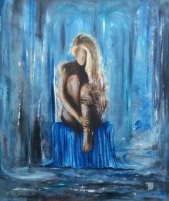 """Dmitriy Krestniy """"I still miss you"""" oil on canvas"""