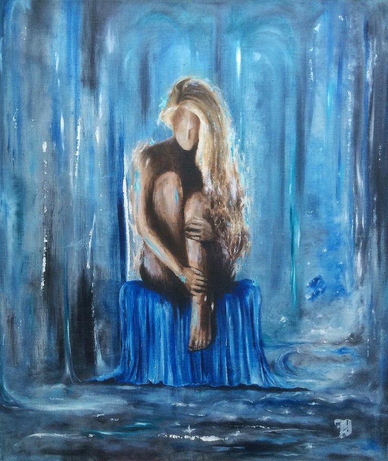 """""""I still miss you"""" Oil Painting 31"""" x 24"""" inch by Dmitriy Krestniy   A look through Dmitriy's designs reveals a glamorous, feminine, provocative yet sensual style influenced by his natural Ukrainian exuberance. He understands and respects the art's"""