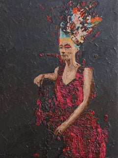 "Hossam Dirar ""Nefertiti 6"" oil painting"
