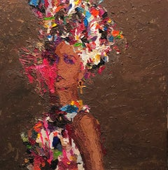 """""""Her Ancient Beauty"""" oil painting by Hossam Dirar"""