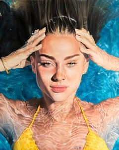 """""""Halo"""" Oil painting 59x47 inch by Dmitriy Krestniy"""