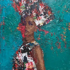 """Nefertiti 8"" oil painting by Hossam Dirar"