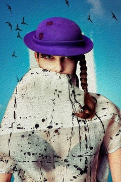 """A Lady in Hat"" Fine Art Print by Viktorija Pashuta"