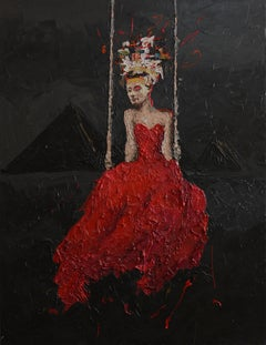 """Nefertiti 5"" oil painting by Hossam Dirar"