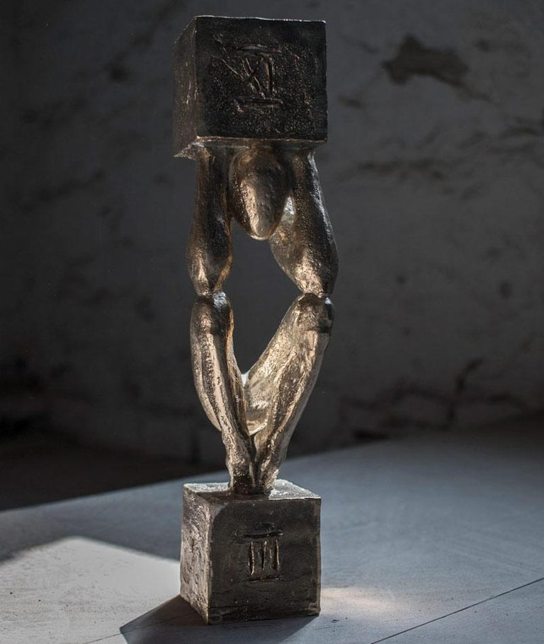 Atlas №3 Bronze sculpture Edition of 5 by Sergii Shaulis  2018 From the Atlas series Bronze Approximate weight 12lbs   ABOUT ARTIST  Born on 27 May 1985 in Kharkiv, Ukraine. From 2005 to 2011 studied at the Kharkiv State Academy of Design and Arts,