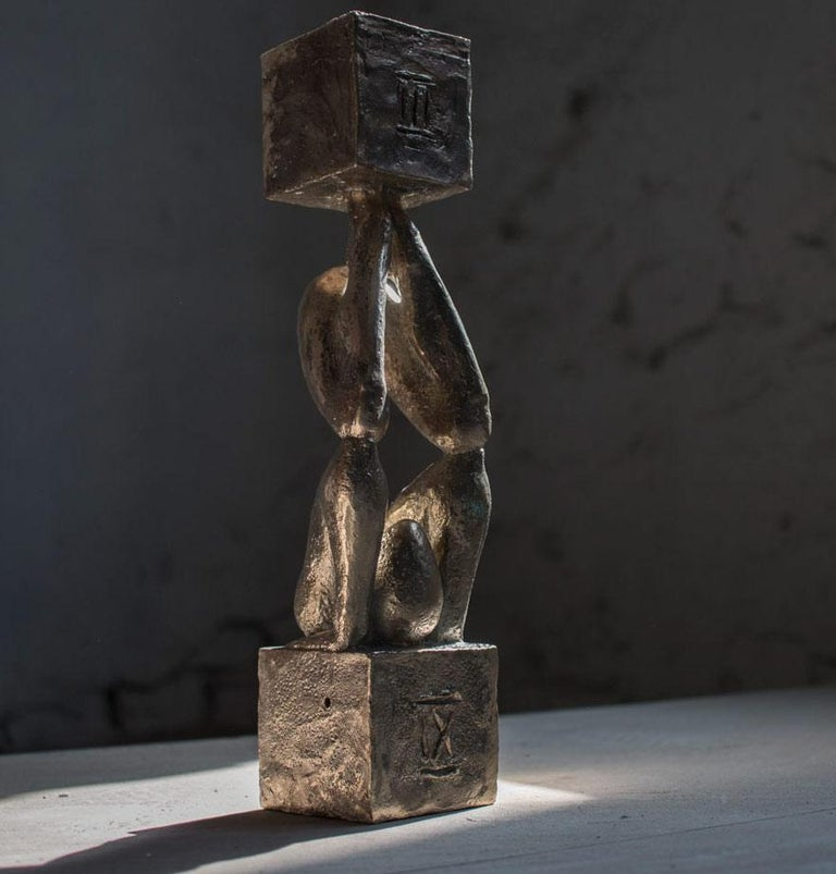 Atlas №3 Bronze sculpture Edition of 5 by Sergii Shaulis  For Sale 3