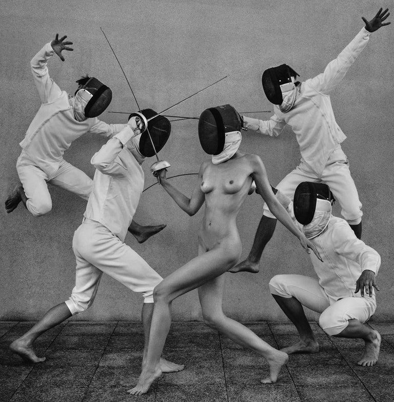 Fencers 1 Original photography Edition 3/5 by Lukas Dvorak  For Sale 3