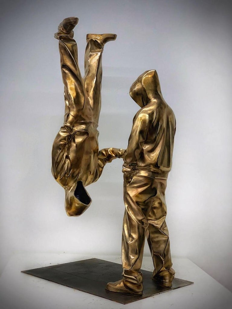 YoBro!! 1, Bronze sculpture Edition 2/8 by Huang Yulong For Sale 1