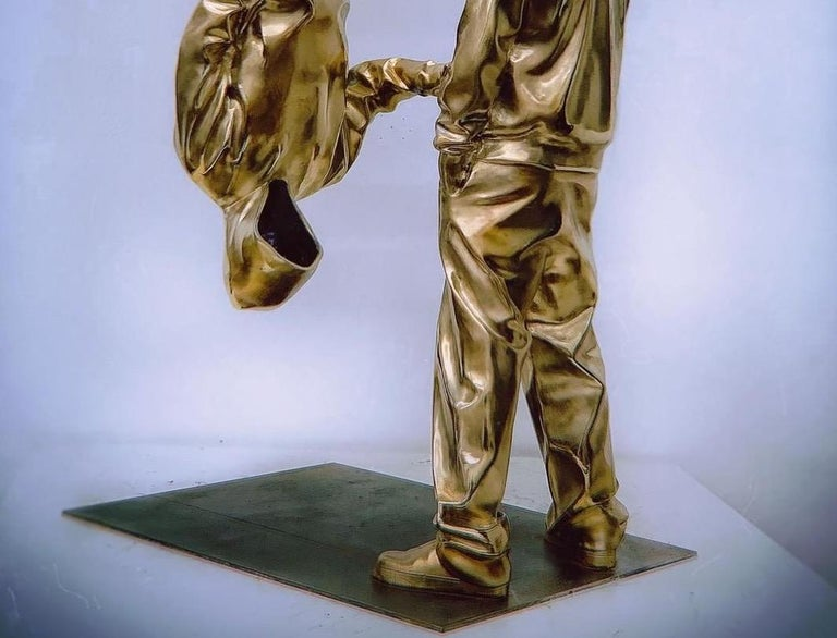 YoBro!! 1, Bronze sculpture Edition 2/8 by Huang Yulong For Sale 4