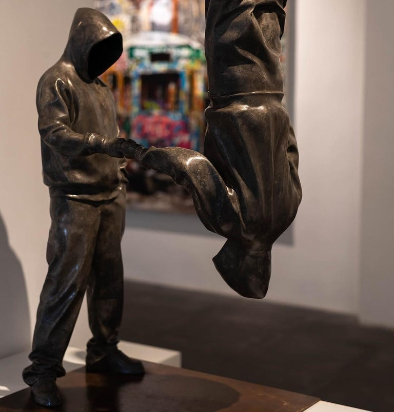 YoBro!! 1, Bronze sculpture Edition 2/8 by Huang Yulong For Sale 6