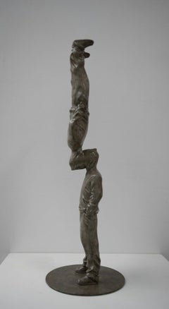 """Up Side Down"" Bronze sculpture Edition of 8 by Huang Yulong"