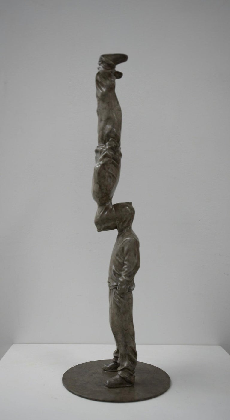 """Up Side Down Bronze sculpture Edition 2/8 by Huang Yulong  Up Side Down 2018 Bronze sculpture  24"""" × 4"""" × 4"""" in 60 × 10 × 10 cm Edition of 2/8  ABOUT THE ARTIST Huang Yulong was born in 1983 in Anhui Province, China. In 2007 he graduated with a"""