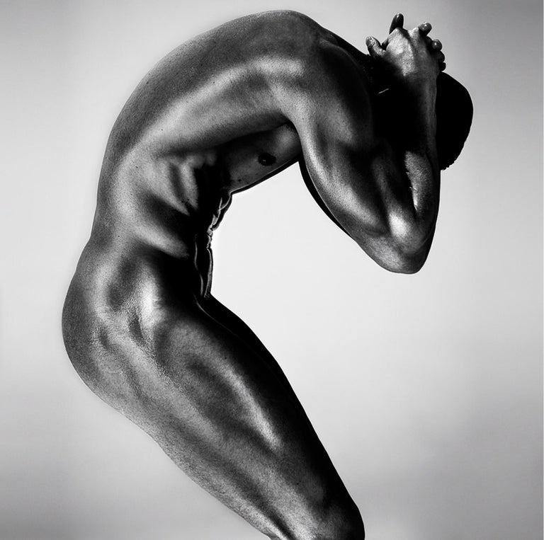 """""""S2L"""" from SCULPT series  Original photography by Giuliano Bekor  44"""" x 44"""" inch  Edition of 10 Archival pigment print mounted on dibond   Custom frame comes with non reflective museum glass   SCULPT series  The body is a vessel for the soul. The"""