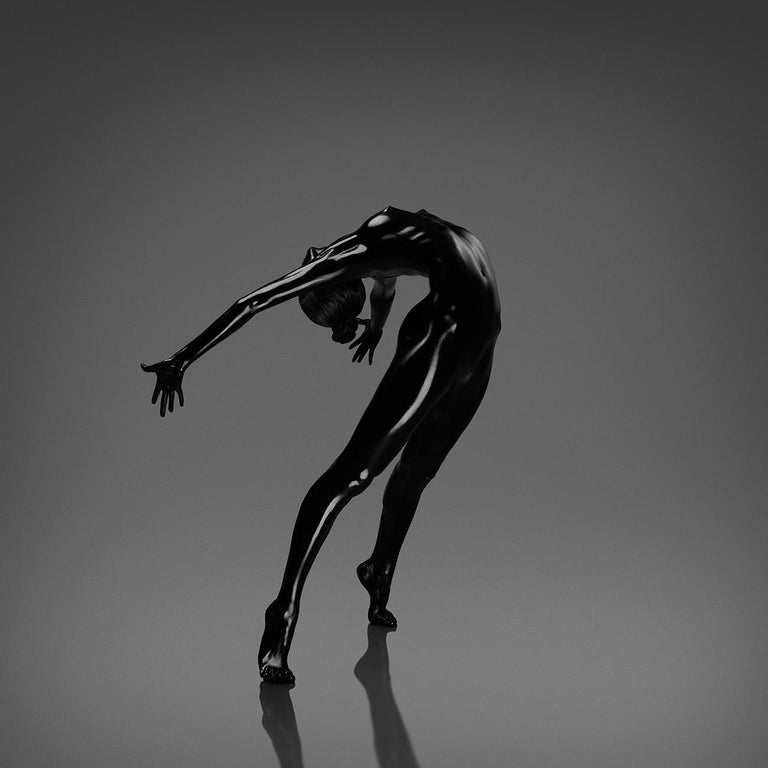 No title (No 5)  Photography  Edition of 25 (32 x 32 inch) by Yevgeniy Repiashenko Year photo was taken: 2016  This picture is a part of Spirit series. The picture shows the frozen movement of the dancer.  Black body make-up is put on the dancer's