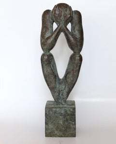 """The man without a rod A"" Bronze Sculpture by Sergii Shaulis"