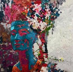 """Golden Queen Nr. 12"" Oil painting by Hossam Dirar"