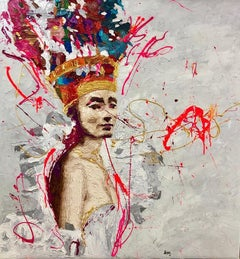 """Golden Queen Nr. 11"" Oil painting by Hossam Dirar"
