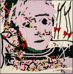 """Warhol"" Acrylic on canvas Painting 36"" x 36 inch by Ty Joseph"