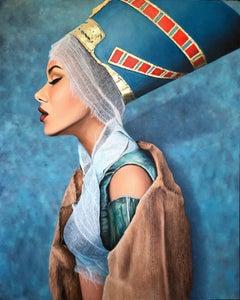 """Fallen Goddess"" Oil painting 59x47 inch by Dmitriy Krestniy"