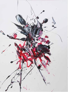 """AB: Untitled 1"" Acrylic painting by Hossam Dirar"