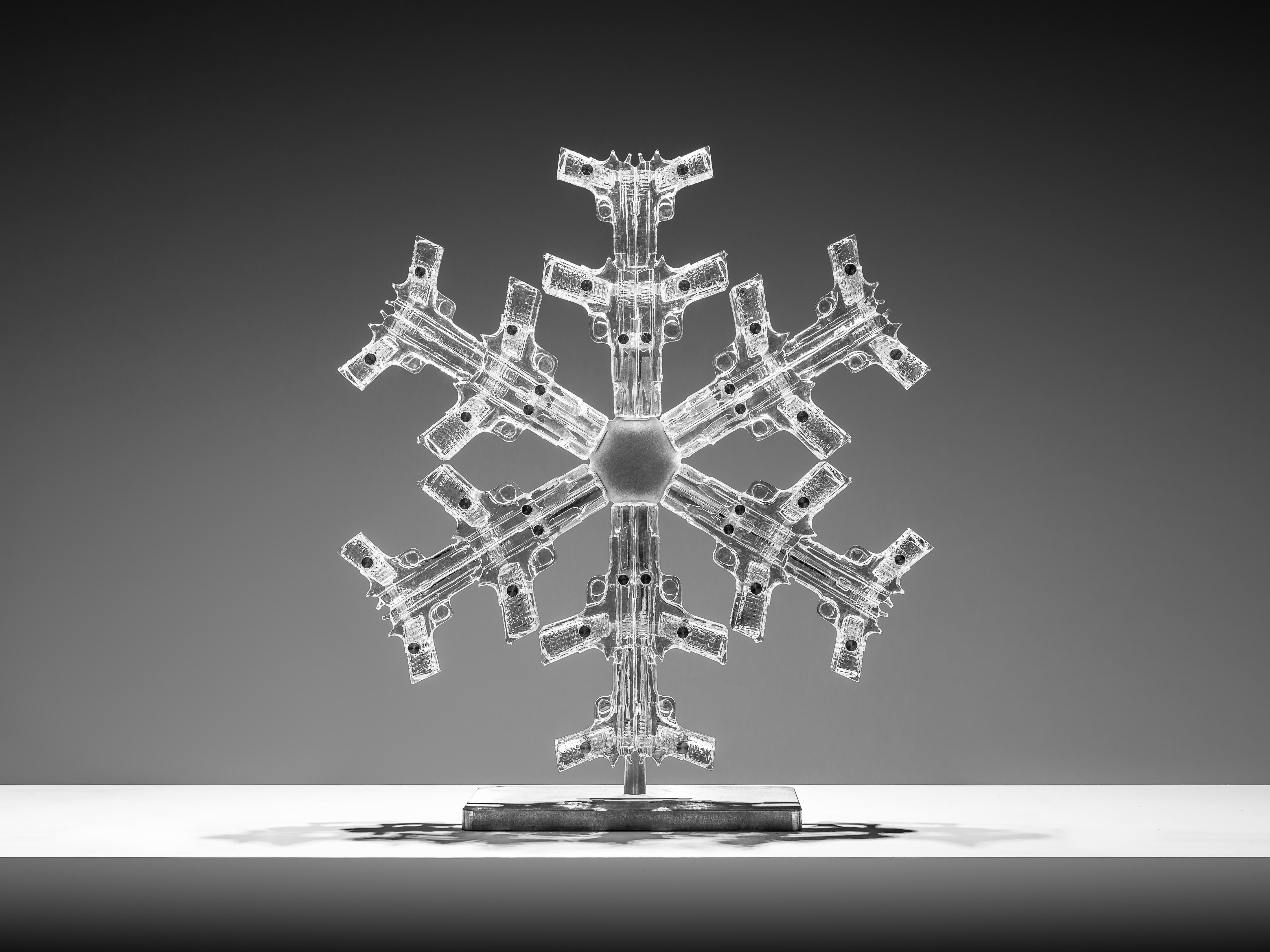 """Snowflake 1"" Sculpture Edition 2/8 by Huang Yulong"