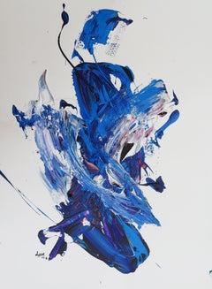 """AB: Untitled 3"" Acrylic painting by Hossam Dirar"