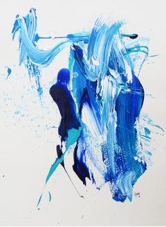 """AB: Untitled 9"" Acrylic painting by Hossam Dirar"