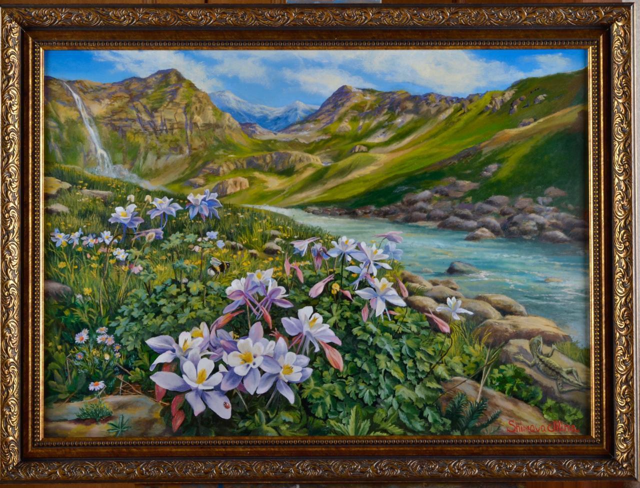 """Bumblebee"" Oil painting 20 x 32 inch by Alina Shimova"