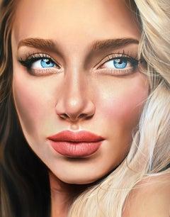 """""""Blonde"""" Oil painting 59"""" x 47 """"inch by Dmitriy Krestniy"""