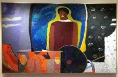 """""""New World"""" Oil Painting 51""""x83""""inch by Ashraf Zamzami"""