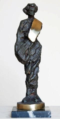 """Lady"" Bronze Sculpture 13""x3""x2""inch by Sarkis Tossonian"