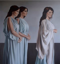 """Trace"" Oil painting 43""x39""inch by Yousra Hafad"