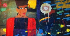 """Emperor"" Oil Painting 41 ""x 78""inch by Ashraf Zamzami"