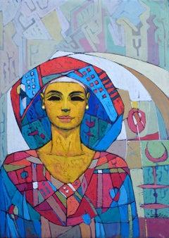 """Transfiguration"" Oil painting 28"" x 20"" inch by Alaa Abu Elhamd"