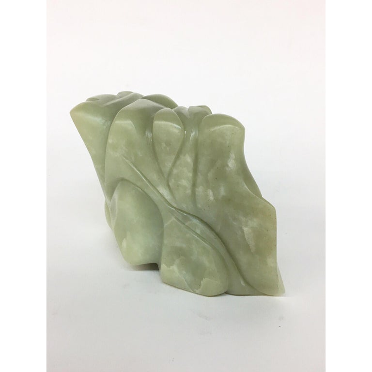TANGLE Soapstone Sculpture 6 1/2 × 4 × 3 inch by Melanie Newcombe  Hand carved alabaster stone with or without the wooden base The alabaster stone is reversible   2018  * * * Melanie Newcombe * * * Melanie Newcombe is an American sculptor who lives