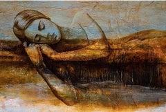 """Untitled"" Mixed media Painting 32"" x 47"" inch by Karim Abd Elmalak"