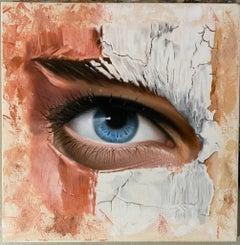 """""""Untitled"""" Oil Painting 14"""" x 14 """"inch by Dmitriy Krestniy"""