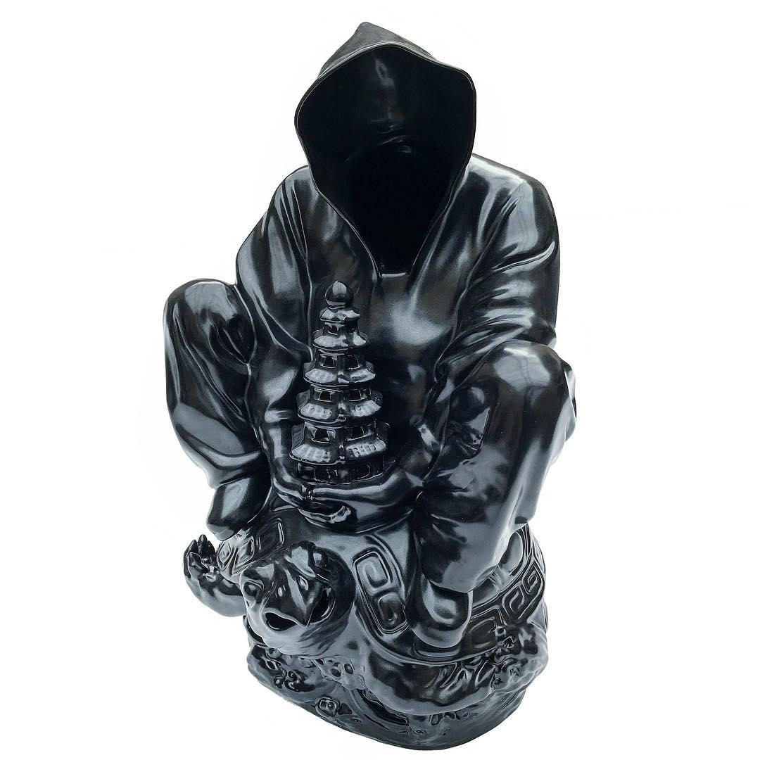 """""""Pagoda"""" Porcelain Sculpture 30"""" x 18"""" x 18"""" inch Edition 1/8 by Huang Yulong"""