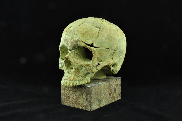"""""""The known unknown Nr. 4"""" Bronze and Steel Sculpture 1/1 by Sergii Shaulis  11.61"""" x 5.5"""" x 9.8'' inch  Weight: 13 lbs  The known unknown series  The project is dedicated to the horrible events that took place on the territory of Ukraine, to the"""