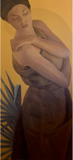 """Embrace"" Oil Painting 55"" x 26"" inch by Sarah Tantawy"