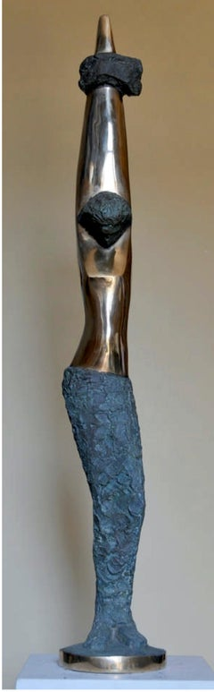"""Desire Under Stress VIII"" Bronze sculpture 53x7x7 in by Sarkis Tossonian"
