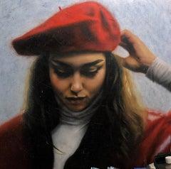 """""""Vintage"""" Oil Painting 39"""" x 39 """"inch by Dmitriy Krestniy"""