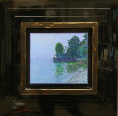 """""""Daytime breeze.Villa Maria Au Lac"""" Framed 20""""x23"""" in Painting by Nikita Makarov"""