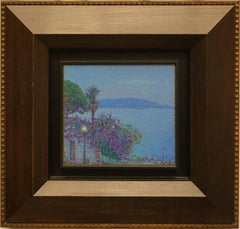 """The first star.Toscalano-Maderno"" Framed 22""x23"" in Painting by Nikita Makarov"