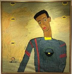 """""""Reflection II"""" Oil Painting 39 """"x 37"""" inch by Ashraf Zamzami"""